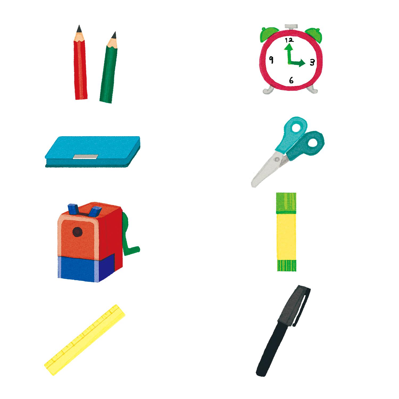 Benesse 進研ゼミ小学講座2020年度 新3年生英語絵辞書見開き1文房具
